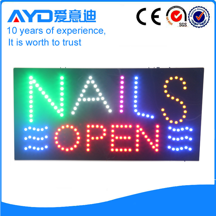 AYD LED Nails Open Sign