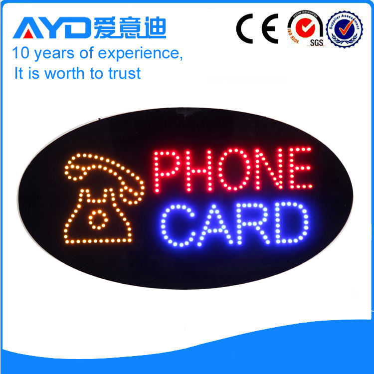 AYD LED Phone Card Sign