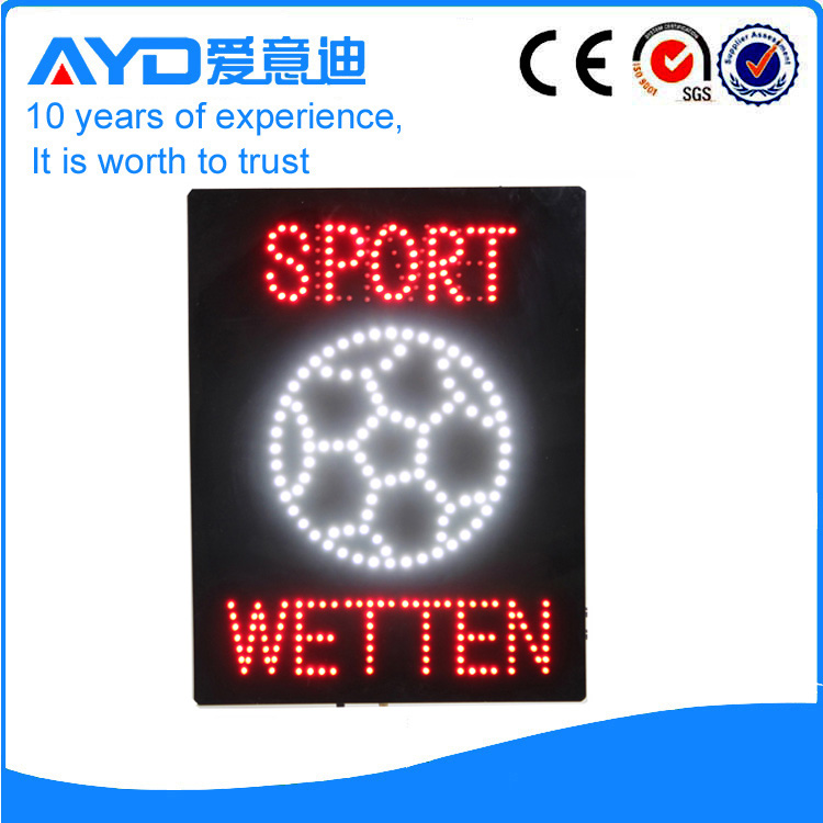 AYD Good Design LED Sport Wetten Sign