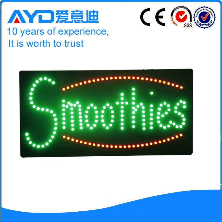 AYD Good Design LED Smoothies Sign