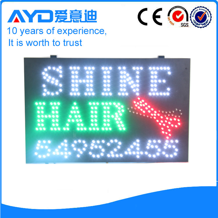 AYD LED Shine Hair Sign