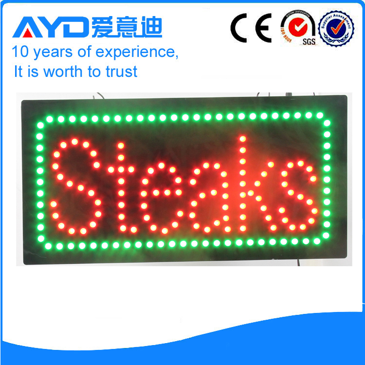 AYD Good Design LED Steaks Sign