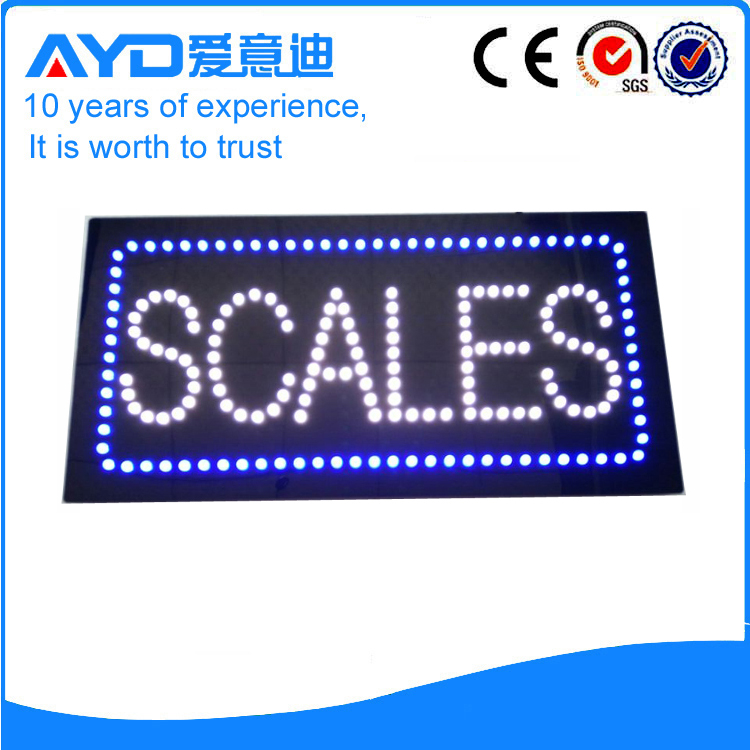 AYD LED Scales Sign