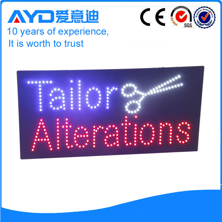 AYD Indoor LED Tailor Alterations Sign