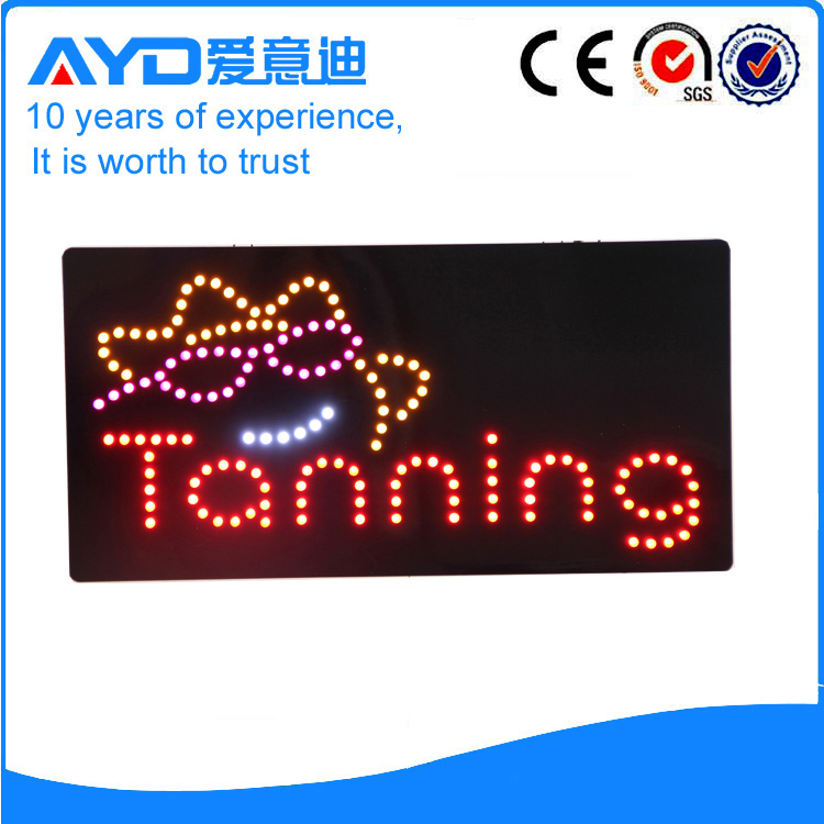 AYD Indoor LED Tanning Sign