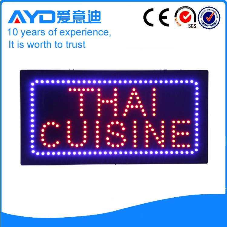 AYD Indoor LED Thai Cuisine Sign