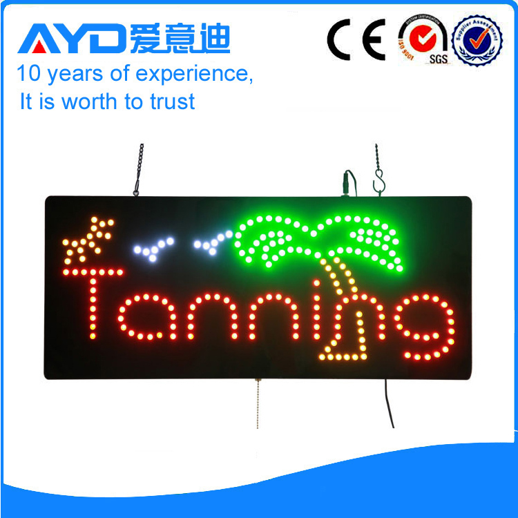 AYD Good Design LED Tanning Sign