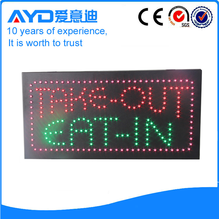 AYD LED Take-out Eat-in Sign