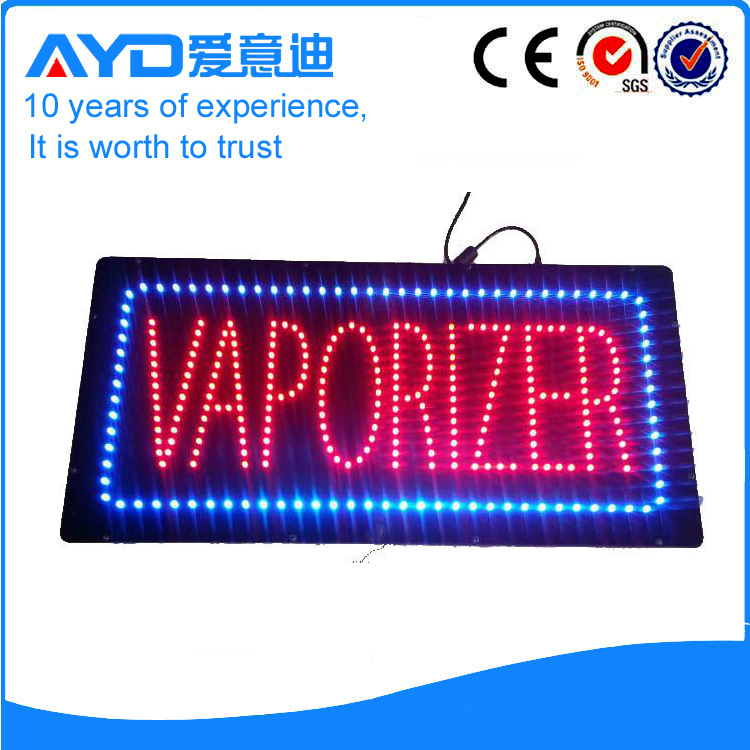 AYD Indoor LED Vaporizer Sign