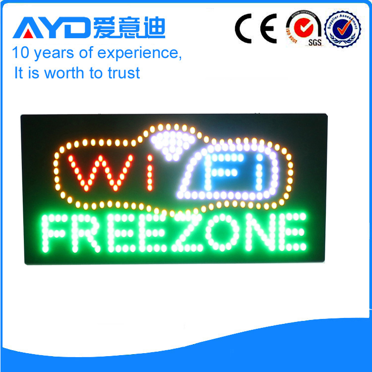AYD LED Wifi Free Zone Sign