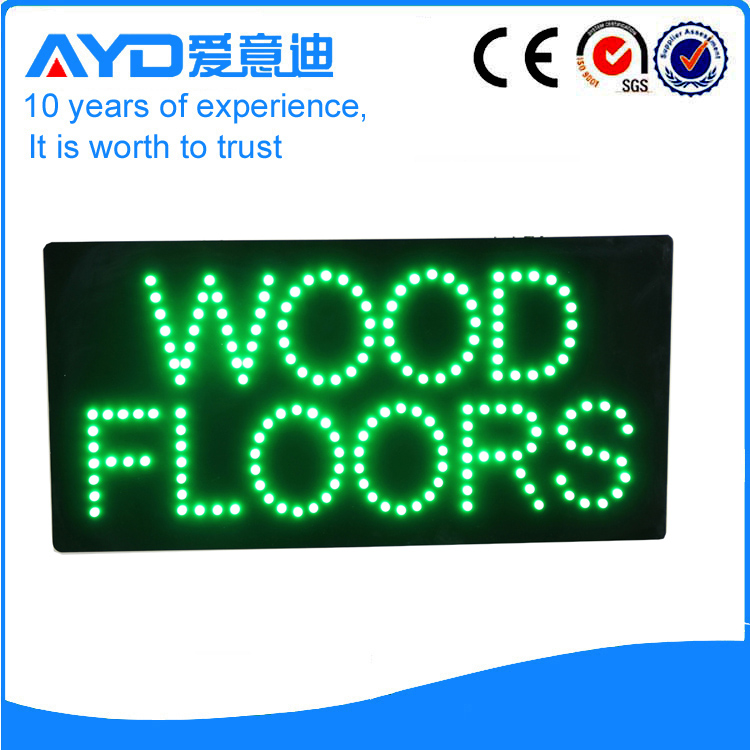 AYD LED Wood Floors Sign