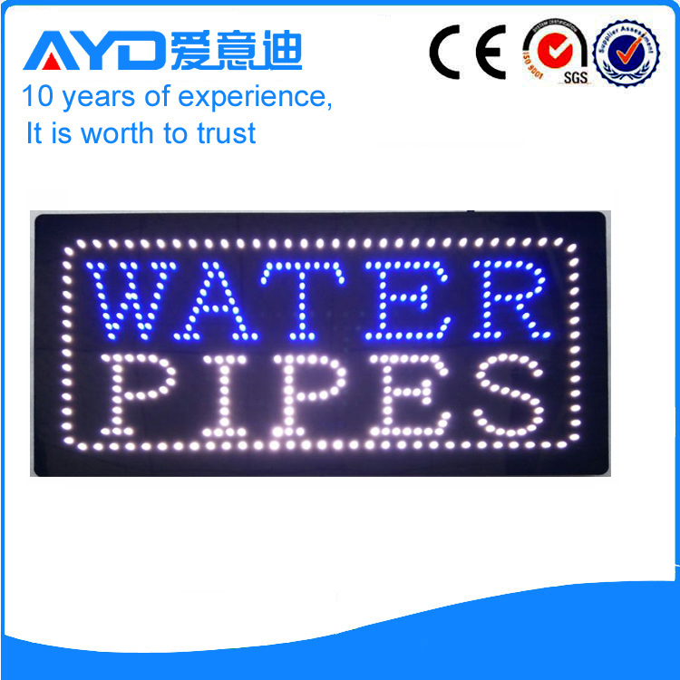 AYD LED Water Pipes Sign