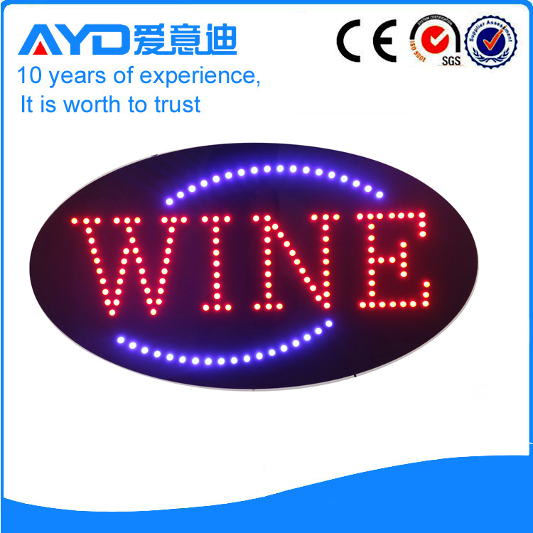 AYD Good Price LED Wine Sign