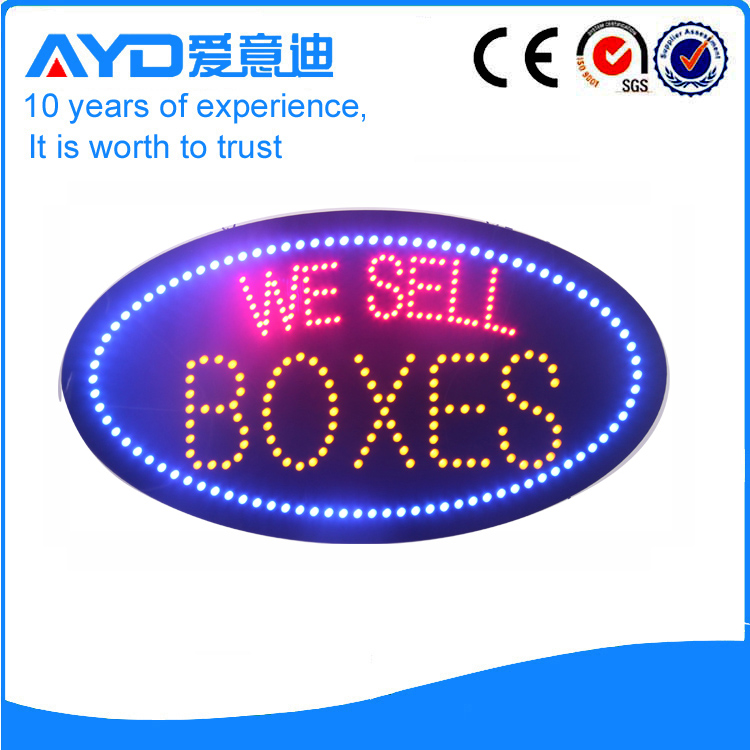 AYD LED We Sell Boxes Sign