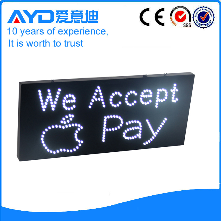 AYD LED We Accept Iphone Pay Sign