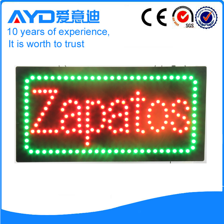 AYD Good Design LED Zapatos Sign