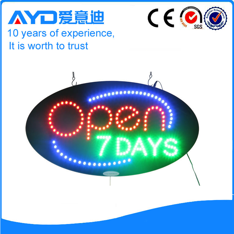 AYD LED Open 7DAYS Sign