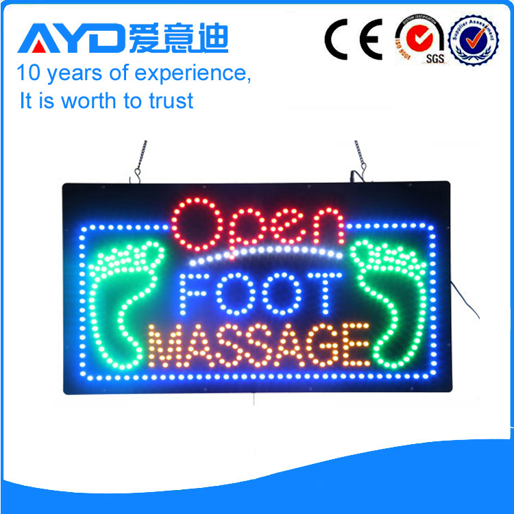 AYD Foot Massage LED Open Sign