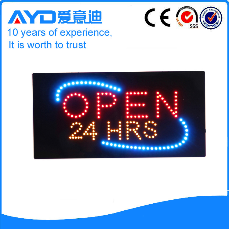 AYD LED Open 24HRS Sign