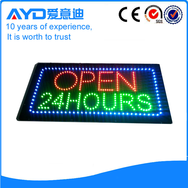 AYD LED Open 24Hours Sign