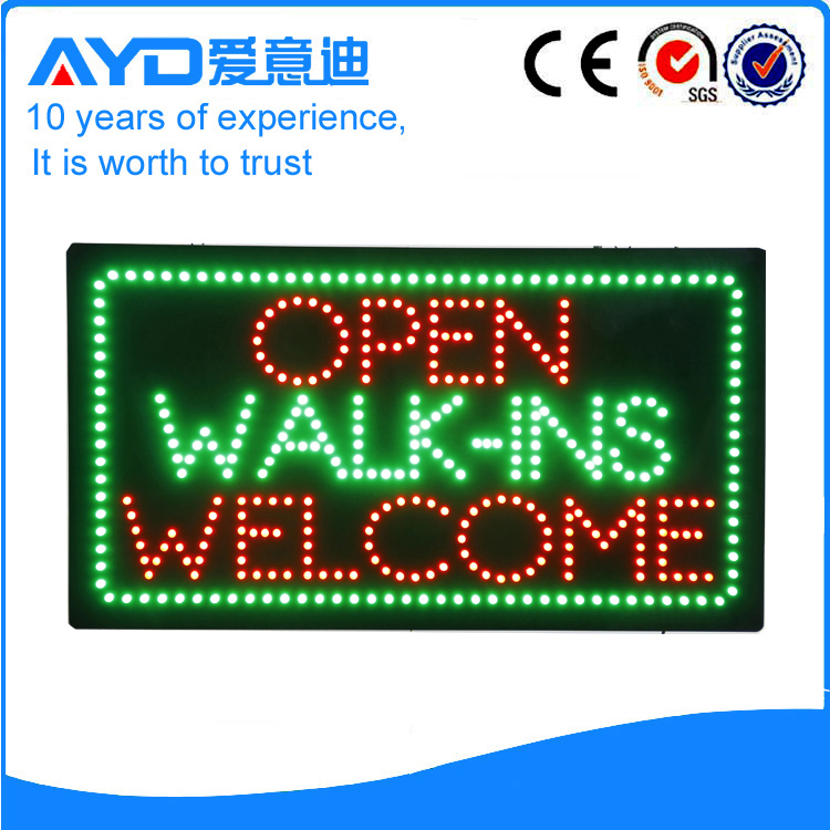 LED Walk-ins Welcome Sign