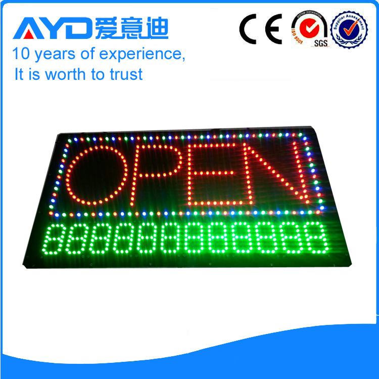 Indoor Number LED Open Sign