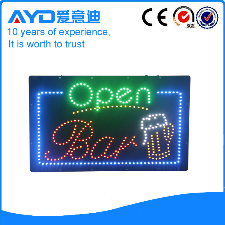 Indoor LED Open Bar Sign