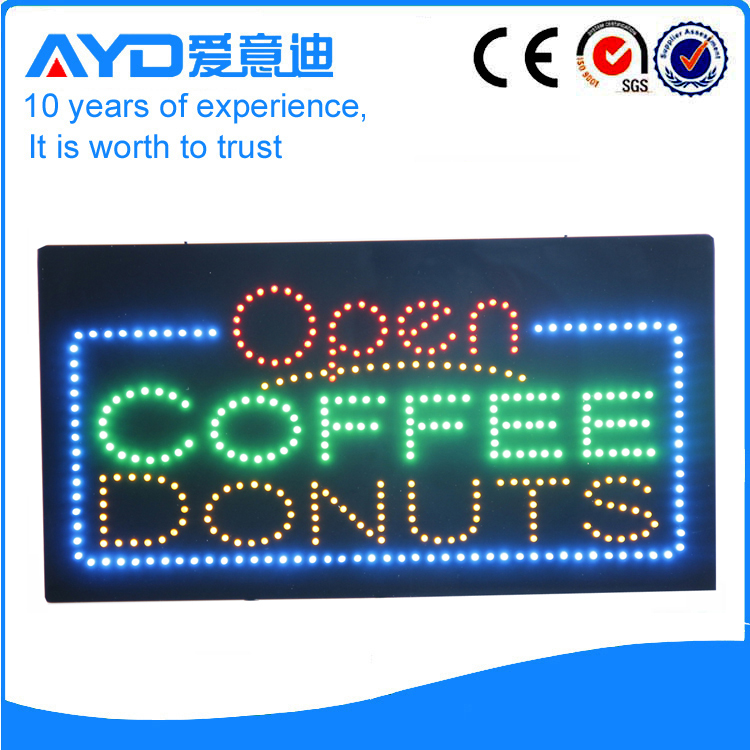 AYD LED Open Coffee Donuts Sign