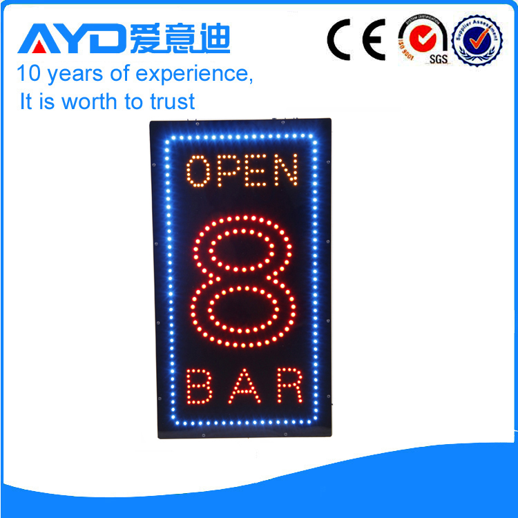 AYD LED Open 8 Bar Sign