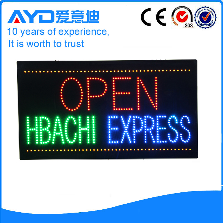 AYD LED Open Hbachi Express Sign