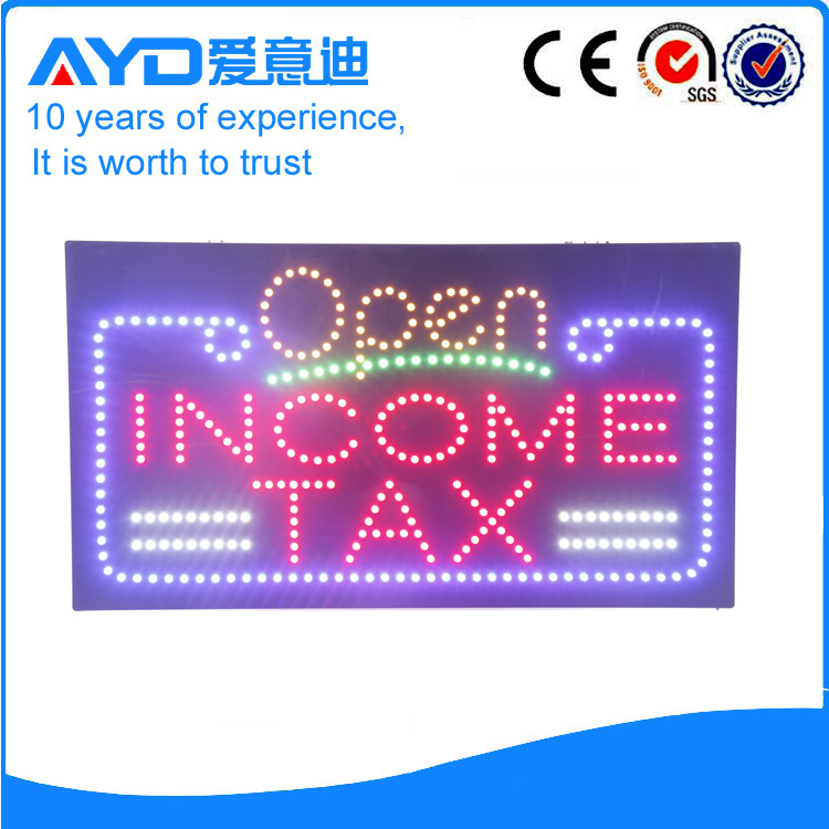 AYD LED Open Income Tax Sign