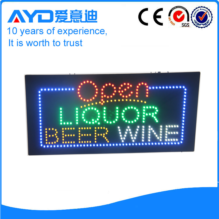 AYD LED Open Liquor Beer Wine Sign