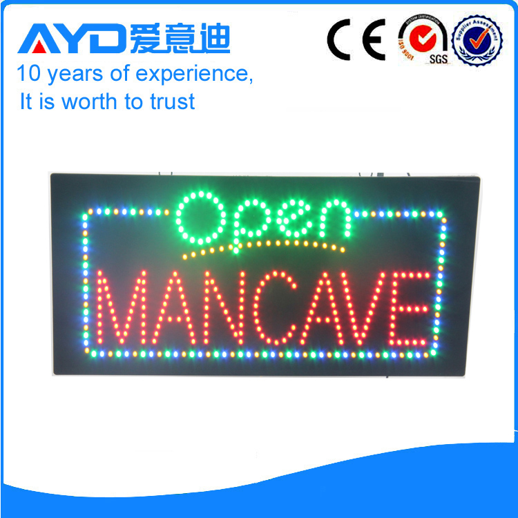 AYD LED Open Mancave Sign