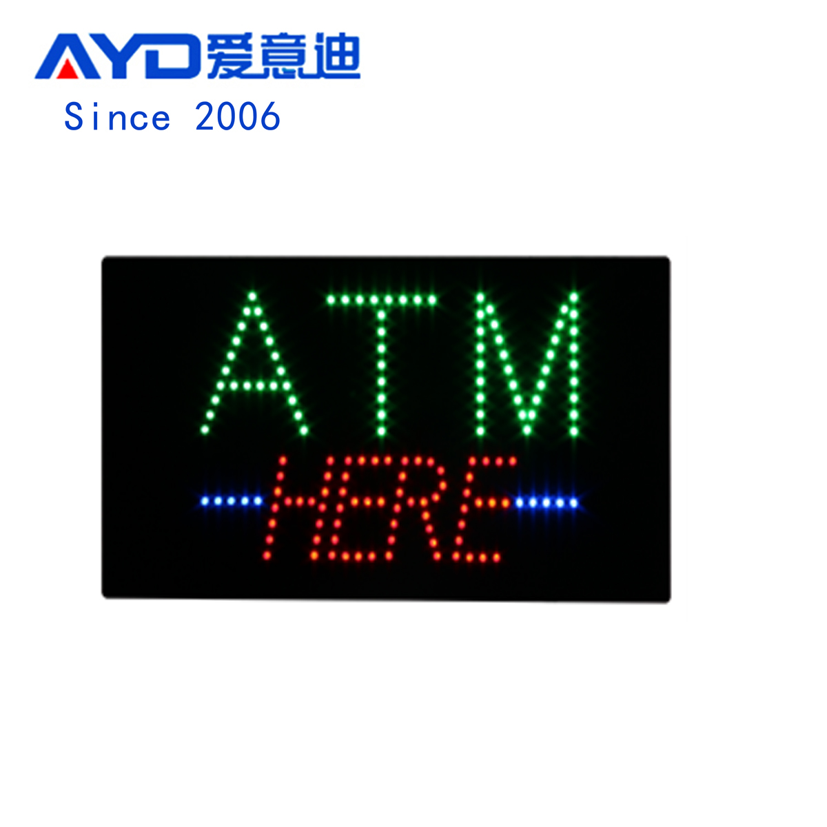 AYD LED Bright ATM Here Signs For Sales