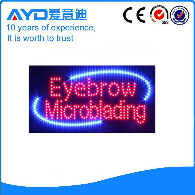 AYD Good Price LED Eyebrow Microblading Sign