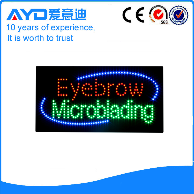 AYD Green LED Eyebrow Microblading Sign