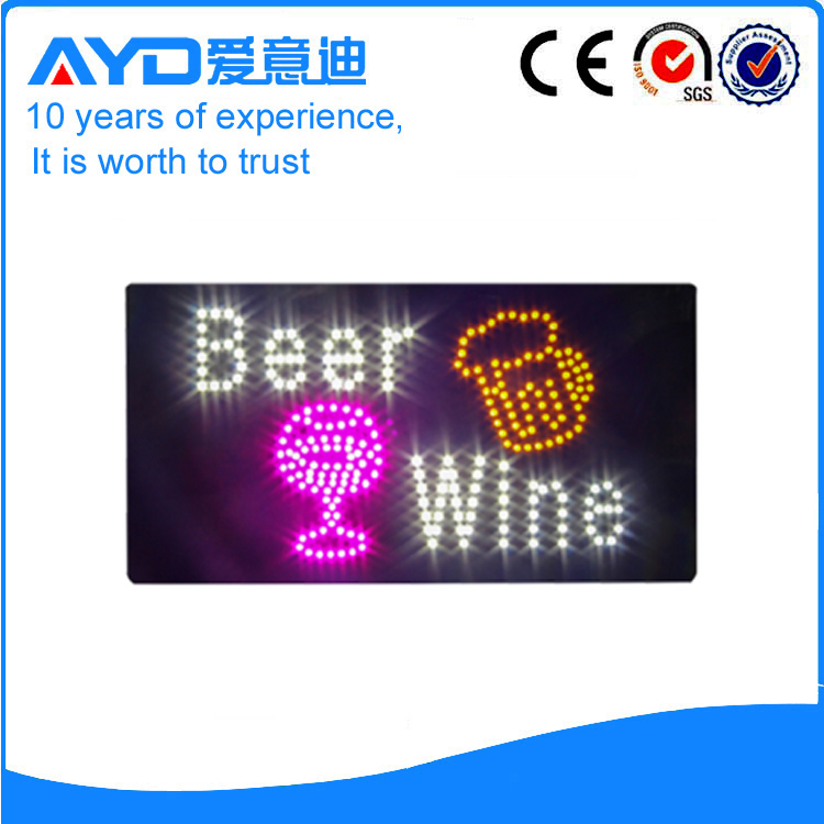 Indoor Good Design LED Beer Wine Sign