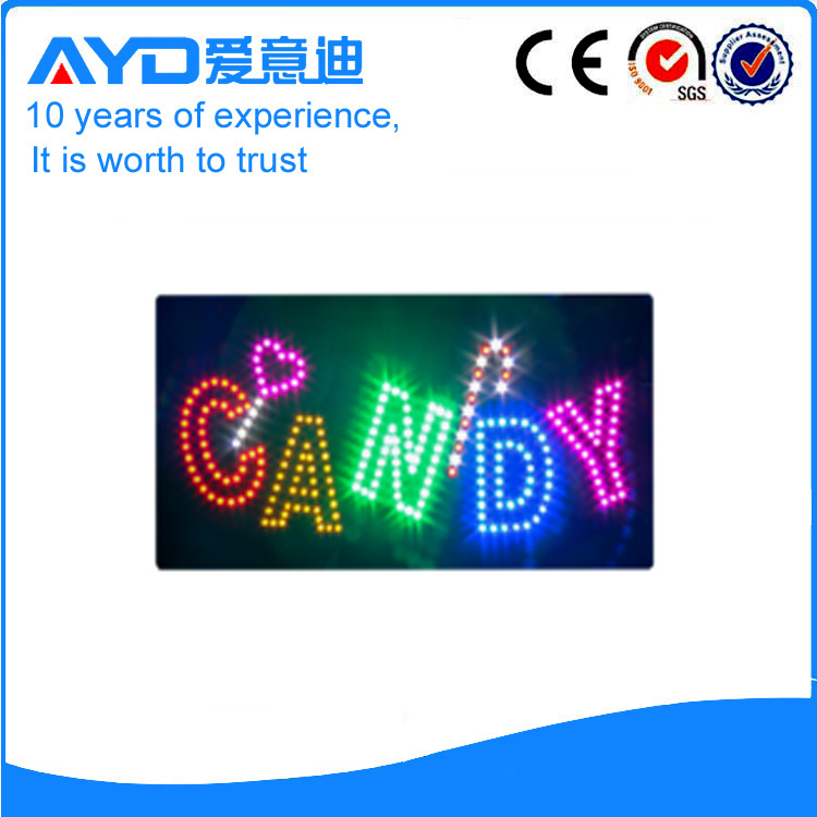 Indoor Good Design LED Candy Signs For Sale