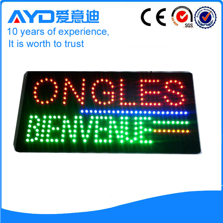 AYD LED Ongles Bienvenue Sign