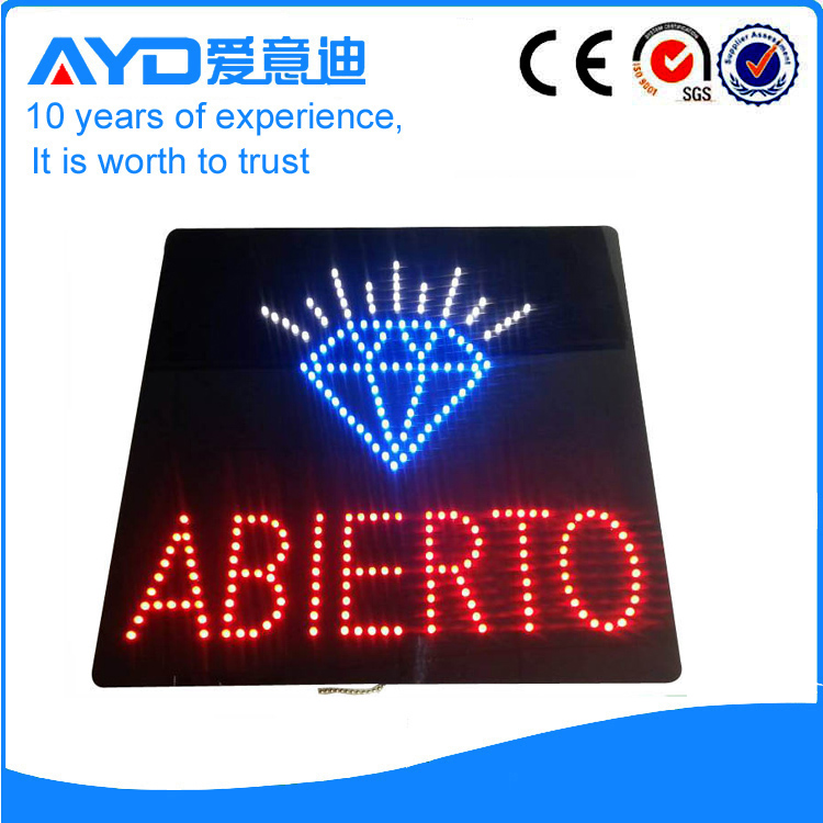 Indoor Good Design LED Abierto Sign