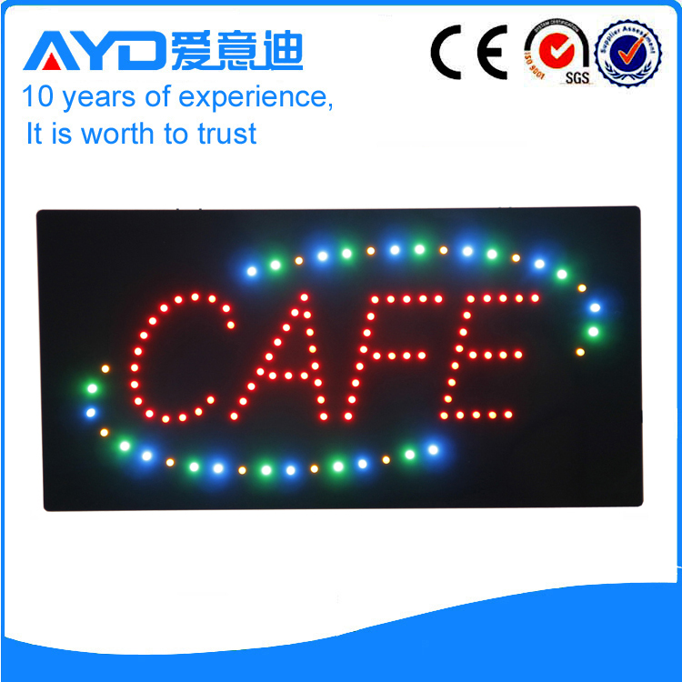 AYD Good Price LED Cafe Sign