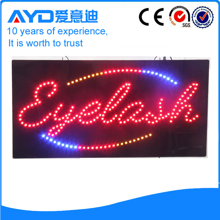 AYD Good Price LED Eyelash Sign